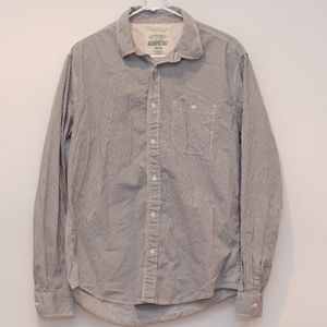 Aeropostale Grey Plaid Button Up Long Sleeve